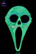 Masque screaming fantome phospho + cagoule