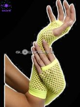 Gants mitaines filet jaune