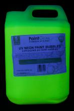 "Liquide à bulles ""paint party"" jaune fluo UV"