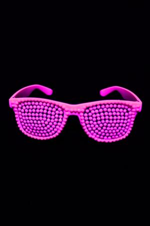 Lunettes rose fluo perles b36ad42111e7