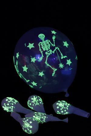 ballons phosphorescents squelette 28 cm x 25 - Ballon Phosphorescent Mariage