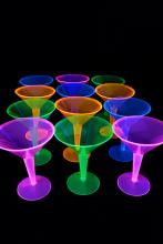 Verres fluo à cocktail 23cl - lot de 12