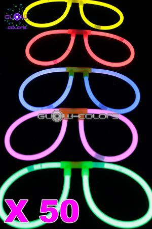 Kit 50 lunettes fluo couleurs assorties