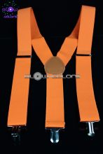 Paire de bretelles clown fluo orange