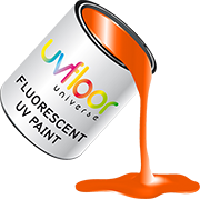 Peinture fluorescente orange 100ml