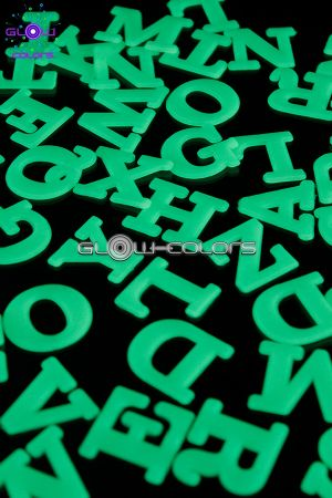 Stickers alphabet phosphorescent