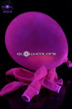 Ballon UV fluorescent 30cm rose