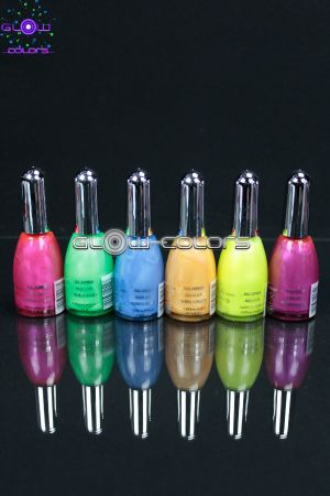 Pack vernis à ongles fluo UV  6 couleurs
