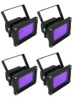 4 X Projecteurs UV led 385-400nm 10w