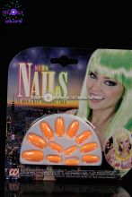 Boites de 10 faux ongles orange fluo