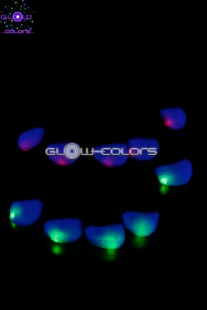 Paire de gants Noir Multicolores LED
