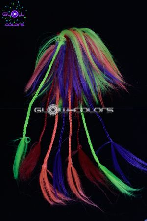 rajout fluo avec tresses multicolore. Black Bedroom Furniture Sets. Home Design Ideas
