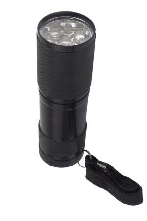 Lampe torche UV 9 Leds 395nm