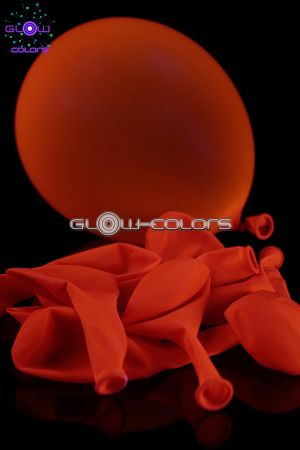 Ballon UV fluorescent 30cm orange
