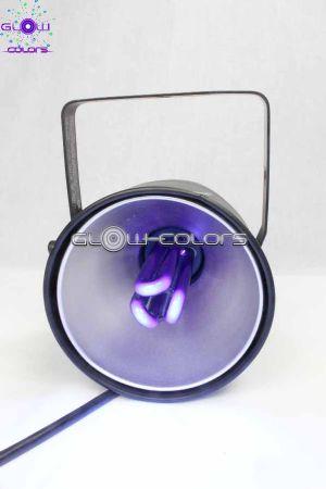 projecteur de lumi re noire type spot avec ampoule 25w. Black Bedroom Furniture Sets. Home Design Ideas