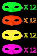 48 Masques loups fluo